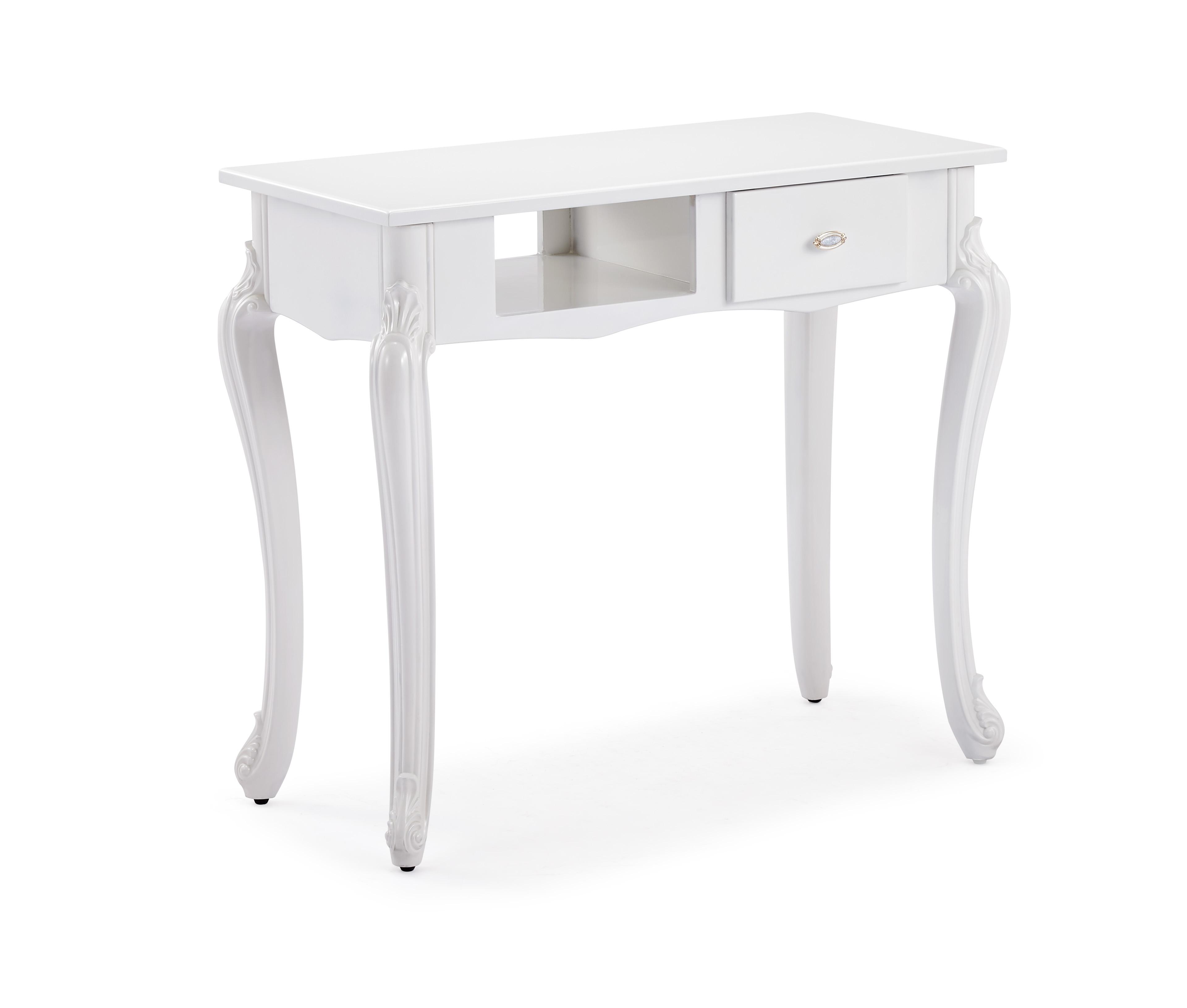 白色的美甲桌